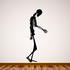 Skeleton Walking with head down Decal