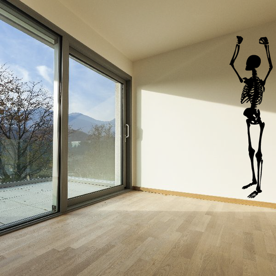 Skeleton Pull Up Decal