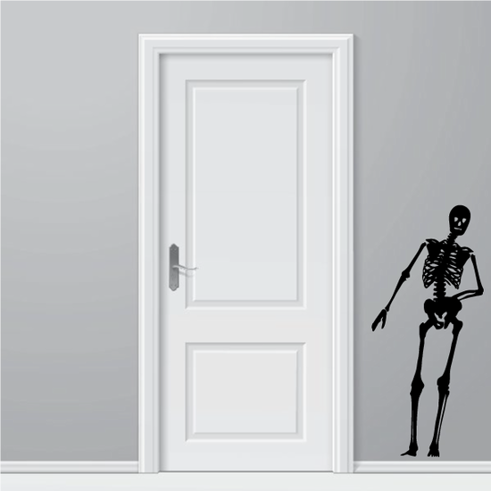 Leaning Skeleton Decal