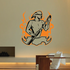 Pool Table Devil Player Flame Background Decal