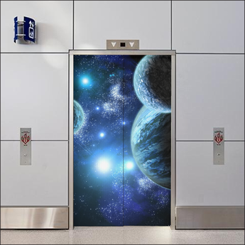 Custom Elevator Door Skin - Vinyl Wrap Sticker