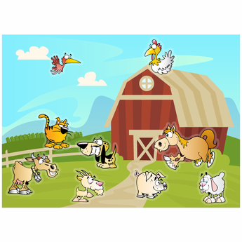 Farm Themed Static Cling Adventure Kit