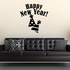 Two Party Hats Happy New Year Decal
