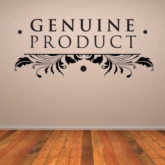 Genuine Product Wall Decal - Vinyl Decal - Car Decal - Id010