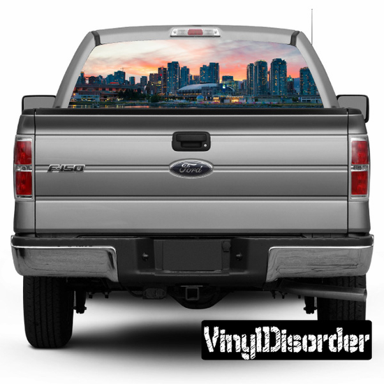 Skyline Vancouver Rear Window View Through Graphic Og001