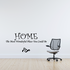 Home the most wonderful place you could be Wall Quote Mural Decal