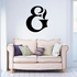 And Symbol Wall Decal - Vinyl Decal - Car Decal - Business Sign - MC22