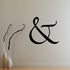 And Symbol Wall Decal - Vinyl Decal - Car Decal - Business Sign - MC29