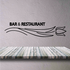 Bar And Resaurant Wall Decal - Vinyl Decal - Car Decal - Business Sign - MC57