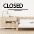 Closed Wall Decal - Vinyl Decal - Car Decal - Business Sign - MC60