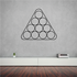 Pool Table Billiards Wall Decal - Vinyl Decal - Car Decal - Business Sign - MC76