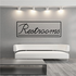 Restrooms Wall Decal - Vinyl Decal - Car Decal - Business Sign - MC77