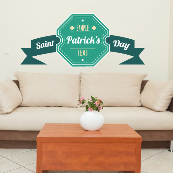 St Patrick's Day Belt Style Banner Printed Die Cut Decal