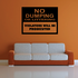 No Dumping Or Littering Wall Decal - Vinyl Decal - Car Decal - Business Sign - MC100