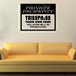 Private Property No Trespassing Wall Decal - Vinyl Decal - Car Decal - Business Sign - MC101
