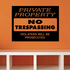 Private Property No Trespassing Wall Decal - Vinyl Decal - Car Decal - Business Sign - MC102