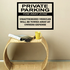 Private Parking Tow Away Zone Wall Decal - Vinyl Decal - Car Decal - Business Sign - MC108