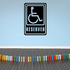 Handicap Reserved Wall Decal - Vinyl Decal - Car Decal - Business Sign - MC112