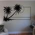 Palm Trees And Sunset Wall Decal - Vinyl Decal - Car Decal - Business Sign - MC119