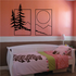 Pine Trees And Sunset Wall Decal - Vinyl Decal - Car Decal - Business Sign - MC129