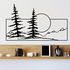 Pine Trees And Sunset Wall Decal - Vinyl Decal - Car Decal - Business Sign - MC131