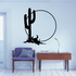 Cactus Bull Skull And Sunset Wall Decal - Vinyl Decal - Car Decal - Business Sign - MC137