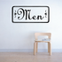 Men Men's Restroom Wall Decal - Vinyl Decal - Car Decal - Business Sign - MC150