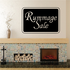 Rummage Sale Wall Decal - Vinyl Decal - Car Decal - Business Sign - MC155