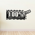 100% Free Wall Decal - Vinyl Decal - Car Decal - Business Sign - MC190