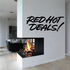 Red Hot Deals Wall Decal - Vinyl Decal - Car Decal - Business Sign - MC207