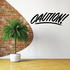 Caution Wall Decal - Vinyl Decal - Car Decal - Business Sign - MC283