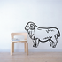 Darling Ram Standing Decal