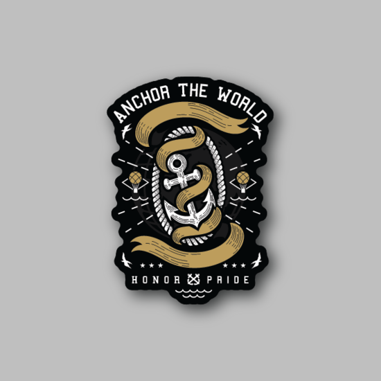 Anchor the World Sticker