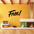 Free Wall Decal - Vinyl Decal - Car Decal - Business Sign - MC314