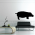 Standing Profile Hippo Decal