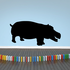 Smiling Hippo Decal