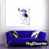 Nude Dancer with Flowing Hair Decal