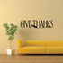 Give Thanks Wheat Decal