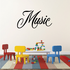 Music Wall Decal - Vinyl Decal - Car Decal - Business Sign - MC362