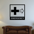 Medical Emergency Room Wall Decal - Vinyl Decal - Car Decal - Business Sign - MC393