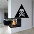 Poison Skull And Crossbones Wall Decal - Vinyl Decal - Car Decal - Business Sign - MC403