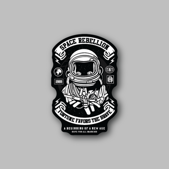 Astronaut Space Rebellion Sticker