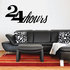 24 Hours Wall Decal - Vinyl Decal - Car Decal - Business Sign - MC482