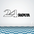 24 Hour Wall Decal - Vinyl Decal - Car Decal - Business Sign - MC483