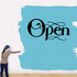 Open Wall Decal - Vinyl Decal - Car Decal - Business Sign - MC525