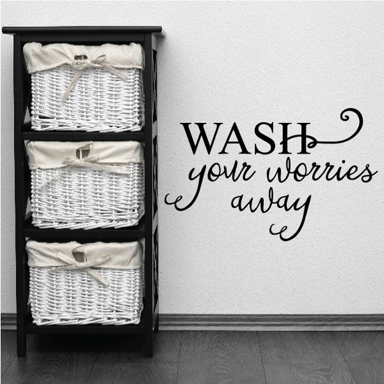 Wash Your Worries Aways Wall Decal