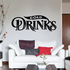 Cold Drinks Wall Decal - Vinyl Decal - Car Decal - Business Sign - MC543