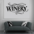 Winery Wall Decal - Vinyl Decal - Car Decal - Business Sign - MC559