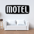 Motel Wall Decal - Vinyl Decal - Car Decal - Business Sign - MC596