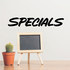 Specials Wall Decal - Vinyl Decal - Car Decal - Business Sign - MC621
